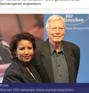 Karlheinz Böhm und Almaz Böhm dulden seit 3 Jahrzehnten die Genitalverstümmelung an den Mädchen in ihren Projekten