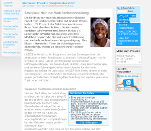 Seit knapp 20 Jahren kassiert UNICEF Millionen an Spenden für ein FGM-Projekt in Äthiopien: Messbare Erfolge gibt es bisher nicht!